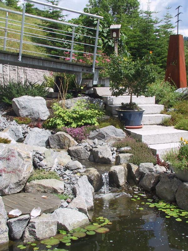 <strong>Wasserlauf mit Br&uuml;cke</strong> &ndash; planwerk GEHLE Fernplaner Fernplanung Landschaftsarchitektur Thomas Gehle Christine Gehle