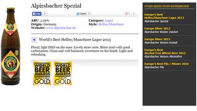 Gold beim World Beer