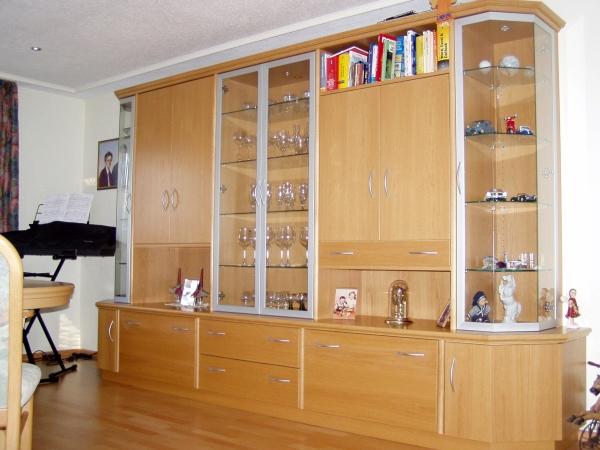 schrankwand nussbaum satin interessante. Black Bedroom Furniture Sets. Home Design Ideas