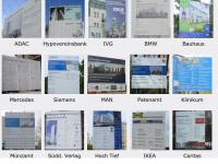 Referenzen -  Bautafeln – Herstellung – Gesamtmontage