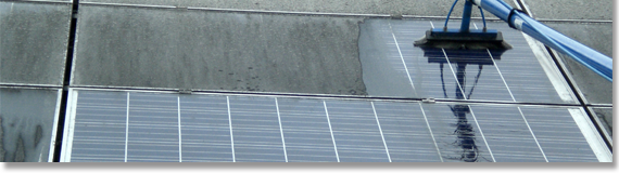 Fotovoltaik-Reinigung