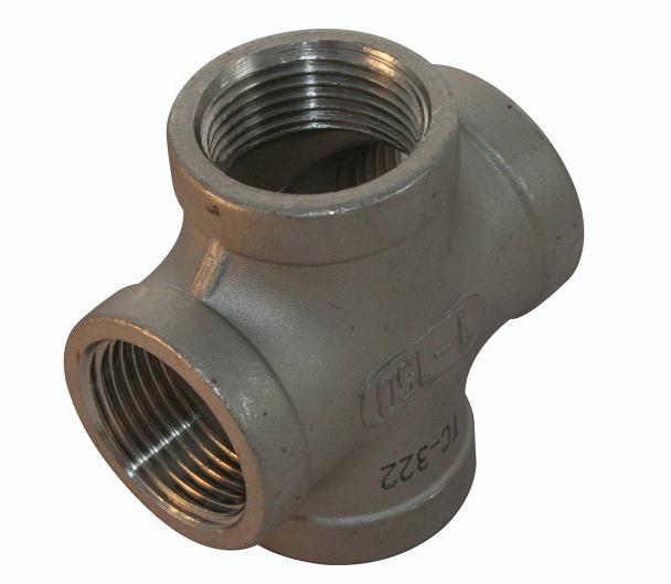 <strong>Art. Nr. 302</strong> &ndash; Kreuzstück, Innengewinde Werkstoff =V4A/316, 150 lbs, Innengewinde nach DIN 2999.