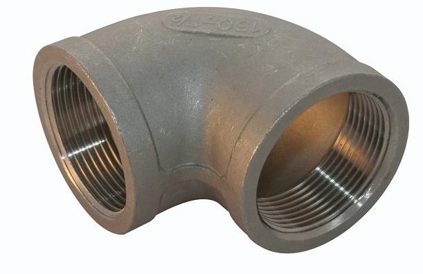 <strong>Art. Nr. 301</strong> &ndash; Winkel, 90 Grad, Innengewinde Werkstoff =V4A/316, 150 lbs, Innengewinde nach DIN 2999.
