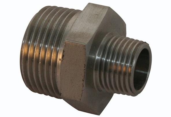 <strong>Art. Nr. 341</strong> &ndash; Sechskant-Reduzier-Doppelnippel, ähnlich DIN 2990, DIN 2999, 150 lbs, V4A/316