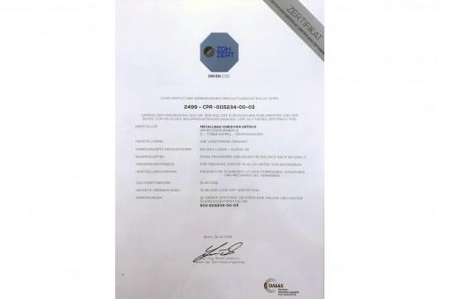 Zertifiziert nach DIN EN 1090