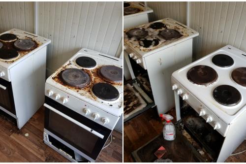 Grundreinigung einer Küche