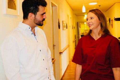 SANDRA BOSER, Mitglied des Landtags - zu Gast bei Pflege Centrum Kenk