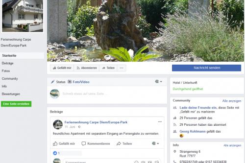 Schwillinger Ferienwohnung nun auch bei Facebook