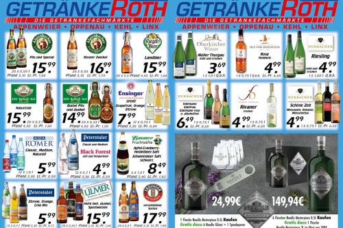 Aktuelles Flugblatt von Getränke Roth - Appenweier, Oppenau und Kehl