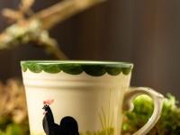 Hahn trifft Henne – und das Ganze auf Keramik